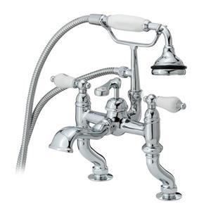 Cheviot Rim Mount Bathtub Filler with Hand Shower - Chrome