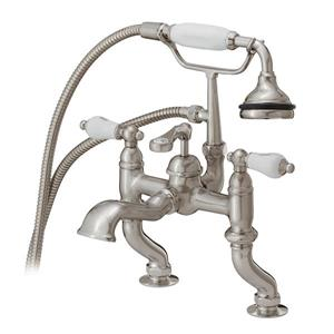 Cheviot Rim Mount Bathtub Filler with Hand Shower - Brushed Nickel