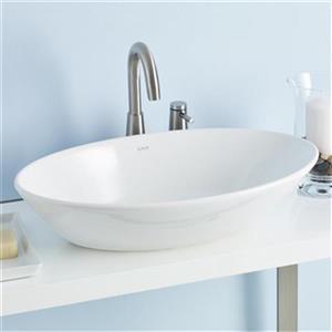"Cheviot Geo Vessel Bathroom Sink - 23 5/8"" x 19 1/2""- White"