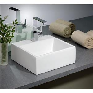 "Cheviot Rio Vessel Bathroom Sink - 16 1/8"" x 16 1/8"" - White"