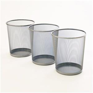 Vancouver Classics OFF16014 3-Piece Mesh Wastebaskets,OFF160