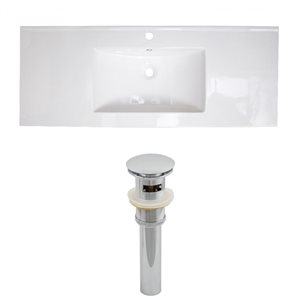39.75-in W x 18.25-in D Ceramic Top Set And Drain (Flush Mount)