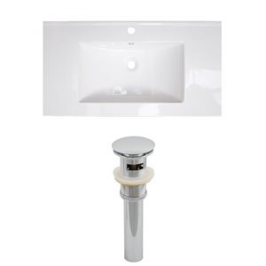 Flair 32-in W x 18.25-in D Ceramic Top Set And Drain (Flush Mount)