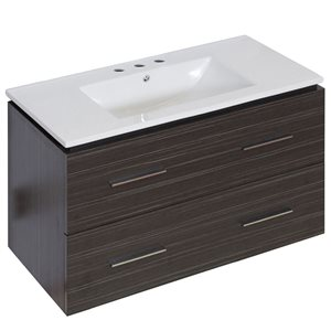 "American Imaginations Xena Vanity Set  - Single Sink - 35.5"" - Gray"