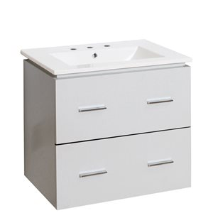 "American Imaginations Xena Vanity Set  - Single Sink - 23.75"" - White"