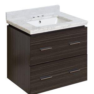 "American Imaginations Xena Vanity Set  - Single Sink - 23.75"" - Gray"