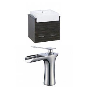 "American Imaginations Xena Farmhouse Vanity Set  - Single Sink - 25.25"" - Gray"