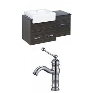 "American Imaginations Xena Farmhouse Vanity Set  - Single Sink - 36.75"" - Gray"