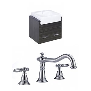 "American Imaginations Xena Farmhouse Vanity Set  - Single Sink - 25.25"" - Gray"