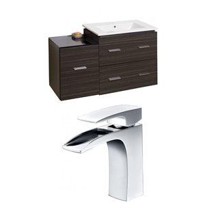 "American Imaginations Xena Vanity Set  - Single Sink - 37.75"" - Gray"