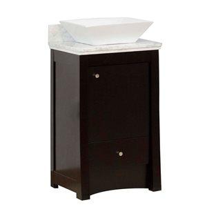 """American Imaginations Elite Vanity Set  - Single Sink - 19.75"""" - Brown"""