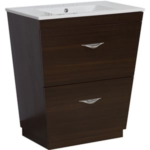 24-in Vee Plywood-Melamine Vanity Set