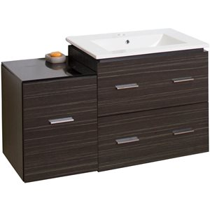 "American Imaginations Xena Vanity Set  - Single Sink - 37.75"" - Gray"