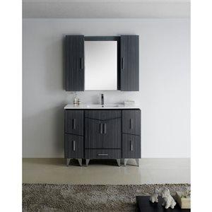 """American Imaginations Zen Vanity Base Set - 48"""" x 21"""" - Gray"""