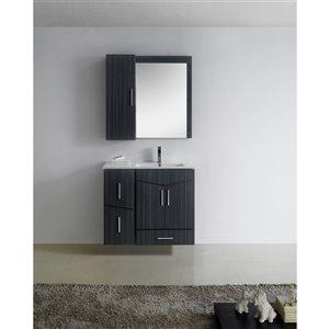 """American Imaginations Zen Vanity Base Set - 35"""" - Gray"""