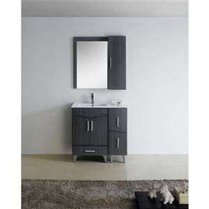 """American Imaginations Zen Vanity Base Set - 36"""" x 21"""" - Gray"""