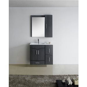 "American Imaginations Zen Vanity Base Set - 35"" x 30"" - Gray"