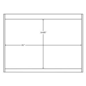 "American Imaginations Xena Vanity Base Set - 46.5"" x 21.5"" - Gray"