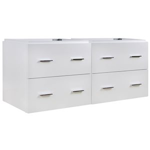 "American Imaginations Xena Vanity Base Set - 46.5"" x 21.5"" - White"