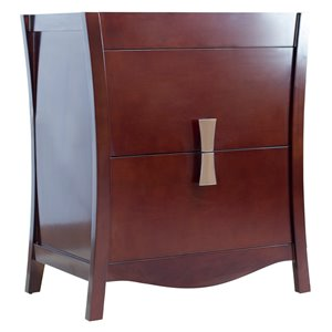 30-in Bow Modern Birch Wood-Veneer Vanity Base Only