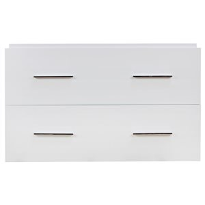 "American Imaginations Xena Vanity Base Set - 35"" x 21.25"" - White"