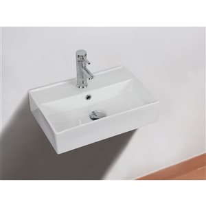 """American Imaginations Wall Mount White for 1 Hole Drilling - 19.75"""" - White"""