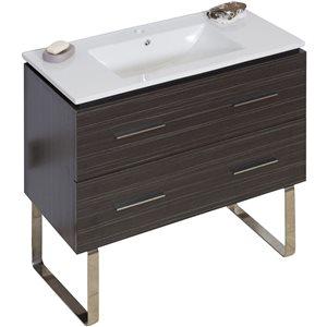 "American Imaginations Xena Vanity Set  - Single Sink - 35.5"" - Gray"