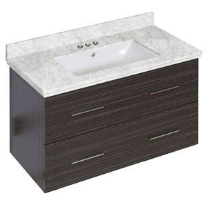 "American Imaginations Xena Vanity Set  - Single Sink - 36"" - Gray"