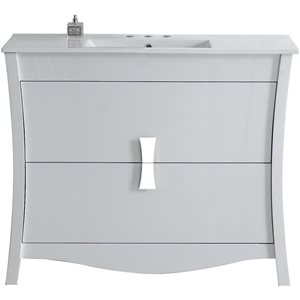 "American Imaginations Bow Vanity Set  - Single Sink - 48"" - White"