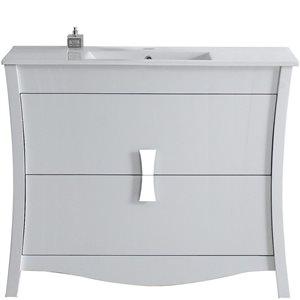 "American Imaginations Bow Vanity Set  - Single Sink - 48"" - White"