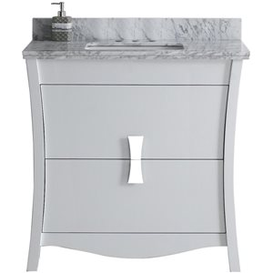 "American Imaginations Bow Vanity Set  - Single Sink - 36"" - White"
