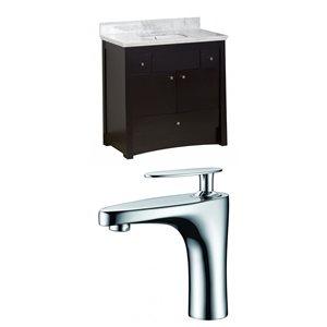 """American Imaginations Elite Vanity Set  - Single Sink - 36"""" - Brown"""