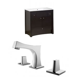 "American Imaginations Elite Vanity Set  - Single Sink - 35.5"" - Brown"