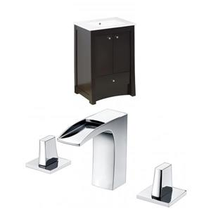 24-in Elite Floor Mount Vanity Set For 3H8-in Drilling