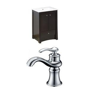 """American Imaginations Elite Vanity Set  - Single Sink - 32"""" - Brown"""