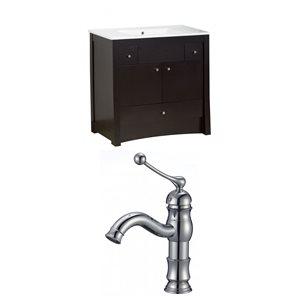 """American Imaginations Elite Vanity Set  - Single Sink - 35.5"""" - Brown"""