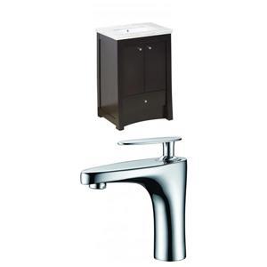 """American Imaginations Elite Vanity Set  - Single Sink - 31.75"""" - Brown"""