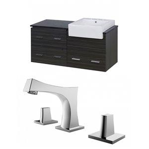 "American Imaginations Xena Farmhouse Vanity Set  - Single Sink - 48.75"" - Gray"