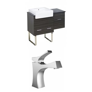 "American Imaginations Xena Farmhouse Vanity Set  - Single Sink - 38.75"" - Gray"