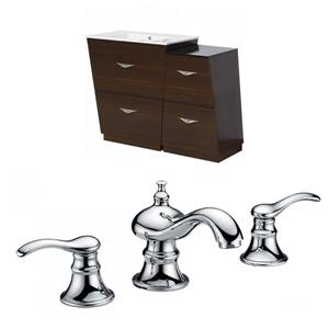 38-in Vee Floor Mount Vanity Set For 3H8-in Drilling