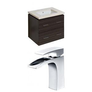 "American Imaginations Xena Vanity Set  - Single Sink - 23.25"" - Gray"
