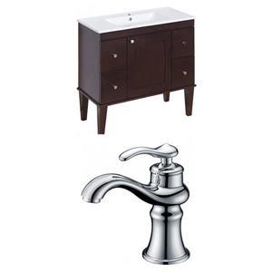 """American Imaginations Roxy Vanity Set  - Single Sink - 35.5"""" - Brown"""