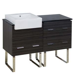 "American Imaginations Xena Farmhouse Vanity Set  - Single Sink - 48.75"" - Gray"