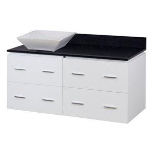"American Imaginations Xena Quartz Vanity Set  - Single Sink - 48"" - White"