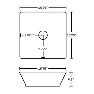 "American Imaginations Xena Quartz Vanity Set  - Single Sink - 36"" - Gray"
