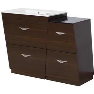 50-in Vee Plywood-Melamine Vanity Set