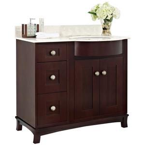 Tiffany 36-in Birch Wood-Veneer Vanity Base Set Only