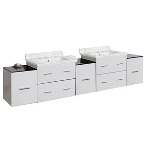 "American Imaginations Xena Vanity Base Set - 88.5"" x 21.5"" - White"