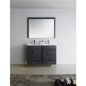 """American Imaginations Zen Vanity Base Set - 46"""" x 29.5"""" - Gray"""