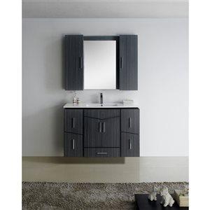 """American Imaginations Zen Vanity Base Set - 47"""" x 30"""" - Gray"""